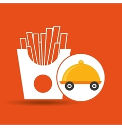 fast delivery food french fries vector image