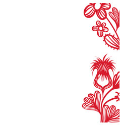 natural rustic flowers with petals and leaves vector image vector image