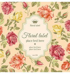 Rose background vector image vector image