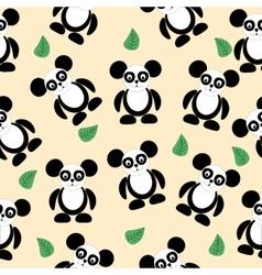 seamless texture black and white panda logo vector image