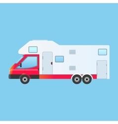 Camping RV trailer family caravan vector image