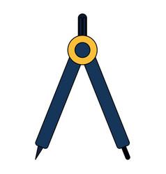 compass geometric tool vector image