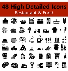 Restaurant and Food Smooth Icons vector image