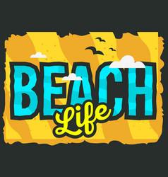 summer beach typographic poster design vector image vector image
