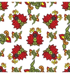 Chinese traditonal seamless pattern with flowers vector image vector image