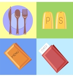 Flat icons for bars and restaurants vector image vector image