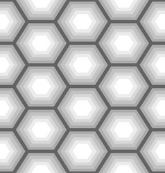 hexagon seamless pattern 3 vector image vector image