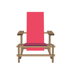 pink chair furniture background cartoon white vector image