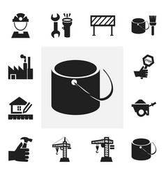 Set of 12 editable structure icons includes vector