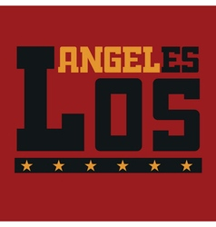 T shirt typography Los Angeles CA vector image vector image