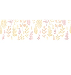Textile textured fall leaves horizontal seamless vector image