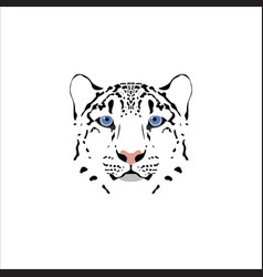 a snow leopard head vector image