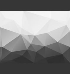 abstract black and white polygonal pattern vector image