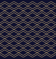 abstract simple pattern with golden zigzag lines vector image