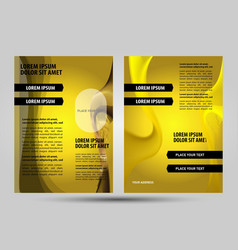 Abstract yellow flayer vector