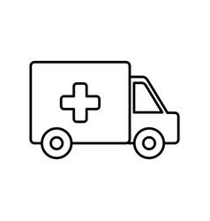 ambulance icon imag vector image