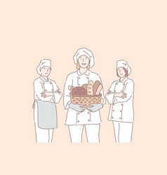 baker advertising cook business concept vector image