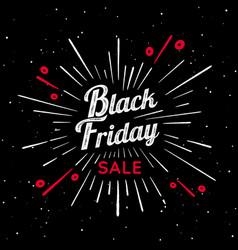 black friday vintage sign vector image
