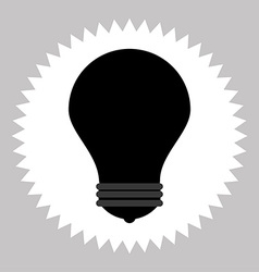 bulb silhouette icon vector image