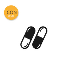 capsules icon isolated flat style vector image