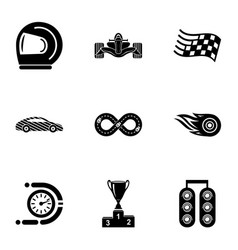 chauffeur icons set simple style vector image