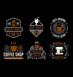 Coffee vintage badge and logo good for your brand vector