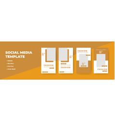 Creative social networks stories design vertical vector