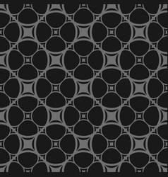 dark seamless pattern in black and gray colors vector image