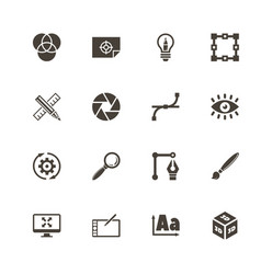 design - flat icons vector image vector image