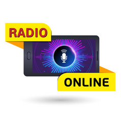 design sticker online radio sign the vector image