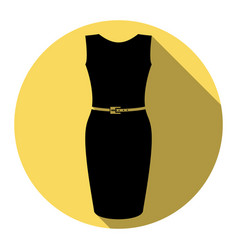 dress sign flat black icon vector image