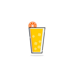 drink orange juice mbe style logo vector image