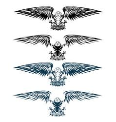 eagles set design template vector image