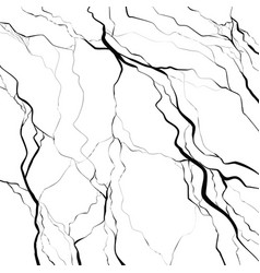 Earthquake black cracks on a white background vector