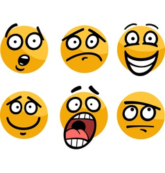 emoticon or emotions set cartoon vector image