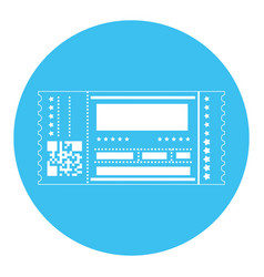 Entertainment ticket icon vector