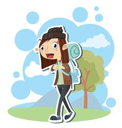 Female tourist vector