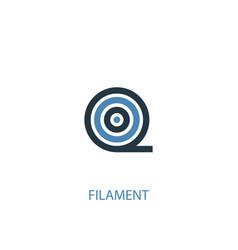 Filament concept 2 colored icon simple blue vector