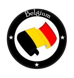 Flag of belgium on a label vector