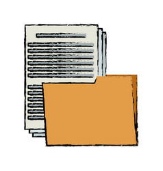 Folder file document paper office supply vector