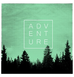 Forest Adventures Outdoor Background Concept vector image