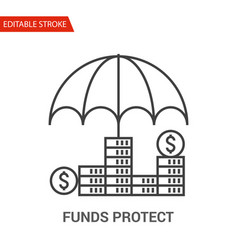 Funds protect icon thin line vector