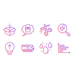 Gift dream swipe up and get box icons set vector