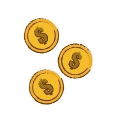 Gold coins icon vector