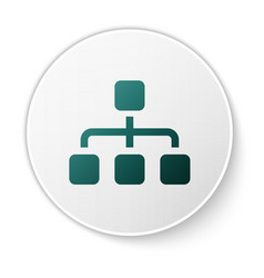 Green business hierarchy organogram chart vector