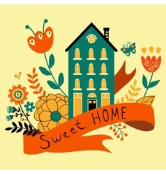Home sweet home concept with house vector