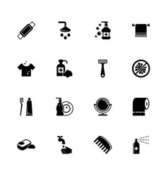 hygiene fight - flat icons vector image
