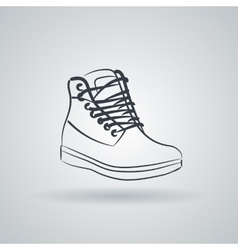 Icon depicting high boots with lacing vector