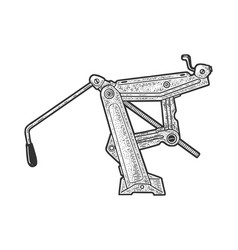 jack lifting device sketch vector image