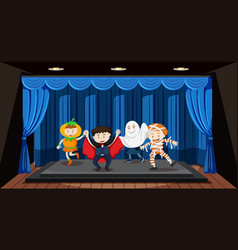 kids doing role play on stage vector image